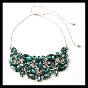 Amrita Singh Emerald Brass Statement Necklace